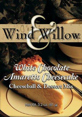 Wind and Willow White Chocolate Amaretto Cheesecake Cheeseball & Dessert Mix - 3.2 Ounce (4 -