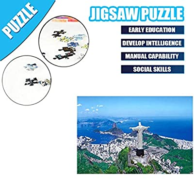 1000 Pieces Jigsaw Puzzles Landscape Pattern Adult Children Gift Puzzle Intellective Educational Holiday Puzzle Toy Paintings Building Puzzle Play Mats (Corcovado Mountain): Toys & Games