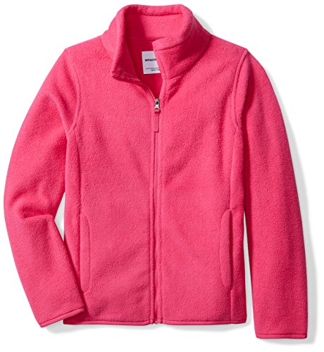 Price comparison product image Amazon Essentials Big Girls' Full-Zip Polar Fleece Jacket, Dark Pink, Medium