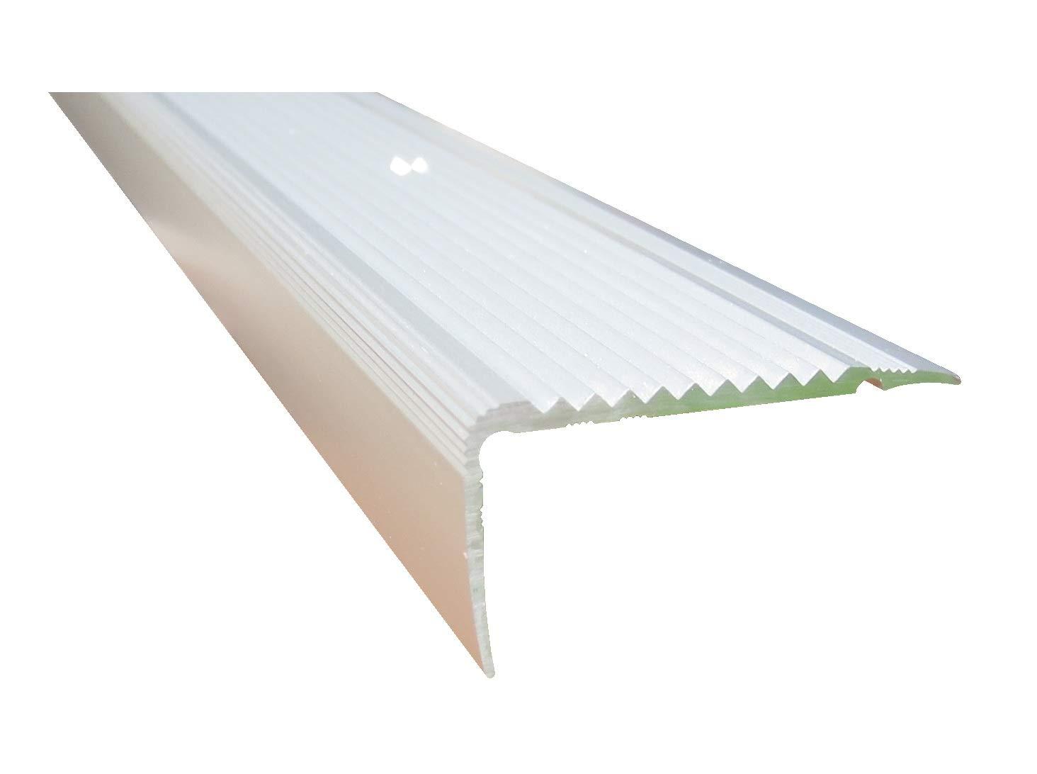 23 mm x 45 mm x 85 cm Silber verschiedene Gr/ö/ßen Treppenkanten Winkelprofil Treppenwinkelprofil Treppenprofil Treppenstufenprofil
