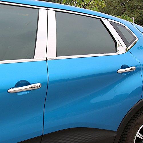 YUZHONGTIAN ABS Chrome Side Door Handle With Smart Key Cover Trim 8pcs For Captur 2013-2019 Car Accessory