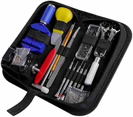 Watch Repair Kit CREMAX 147 PCS Professional Spring Bar Tool Set, Watch Band Link Pin Tool Set with Carrying Case