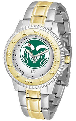 Colorado State Rams Competitor Two-Tone Men's Watch by SunTime