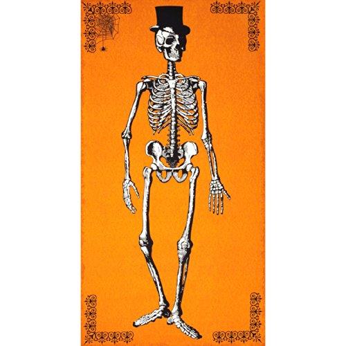 Andover Chillingsworth Skeleton Panel Orange Fabric