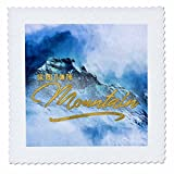 3dRose Doreen Erhardt Inspirational - Go Tell it On the Mountain Faux Gold Leaf and Painting - 18x18 inch quilt square (qs_261488_7)