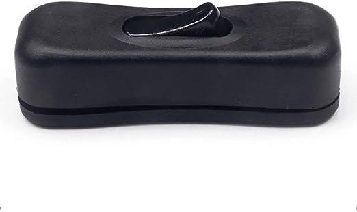 Imagen deInterruptor Oscilante, 304 Ship-Shape Línea Interruptor en Negro para Pequeño Electrodoméstico o Lámpara Compatible Aplicado a Eléctrico Electrodomésticos, Lamparas, Suelo Lámparas - Negro