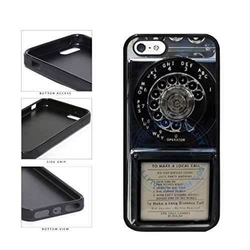 BleuReign(TM) Detailed Rotary Phone TPU RUBBER SILICONE Phone Case Back Cover For Apple iPhone 5 - Detailed Textured Dials
