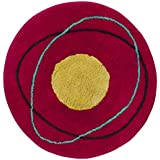 Creative Bath Products Dot Swirl Round Shaped Bath Rug, Bright