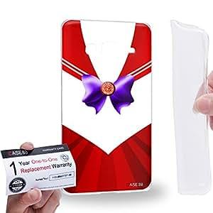 Case88 [Samsung Z3 Sm-Z300h] Gel TPU Carcasa/Funda & Tarjeta de garantía - Sailor (Series Moon) Mars Costume Uniform Art1215