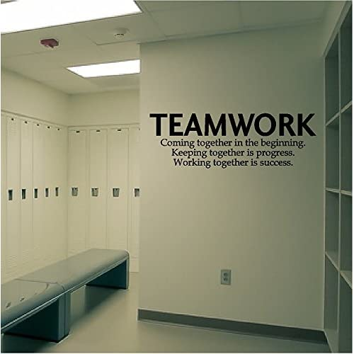 Wall Art For An Office Intended Quote Wall Decal Teamwork Definition Office Sticker Inspirational Art Art Amazoncouk