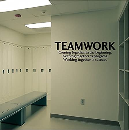 Quote Wall Decal Teamwork Definition Office Wall Sticker Inspirational Quote Wall Art & Quote Wall Decal Teamwork Definition Office Wall Sticker ...