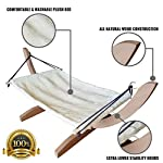 Vea pets Luxury Cat Hammock - Large Soft Plush Bed - Holds Small to Medium Size Cat or Toy Dog | Anti Sway | Attractive & Sturdy Perch | Easy to Assemble | Wood Construction 12