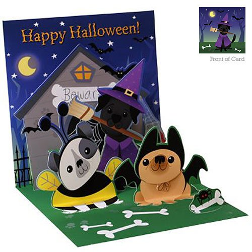 Up With Paper Treasures Halloween DOGS LIKE CANDY TOO! (Pet Bumblebee Costume)