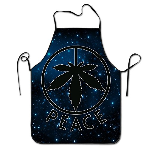 Peace Sign Weed Cannabis LeafUnisex Waterproof Durable Comfortable Easy Care Kitchen Cooking Pattern Colorful Anti-oilAprons