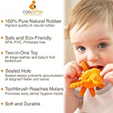 Pure Natural Rubber Baby Teether Toothbrush
