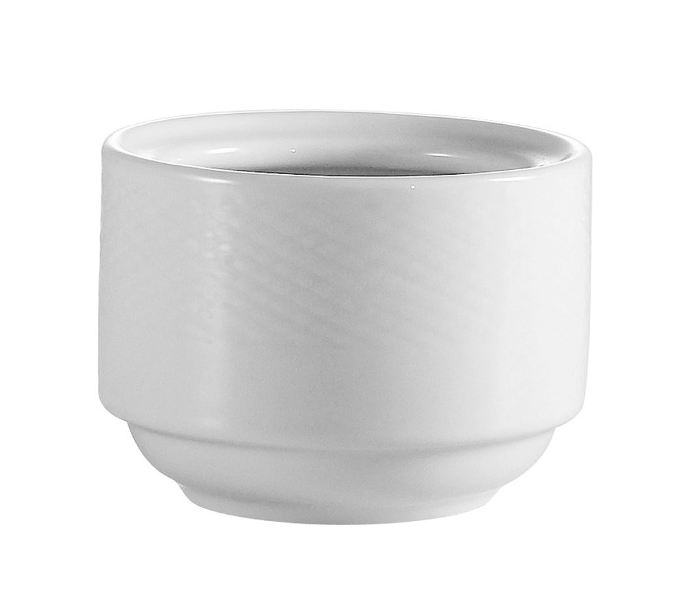 CAC China BST-4 Boston 4-1/2-Inch 7.5-Ounce Super White Porcelain Stacking Bouillon, Box of 36