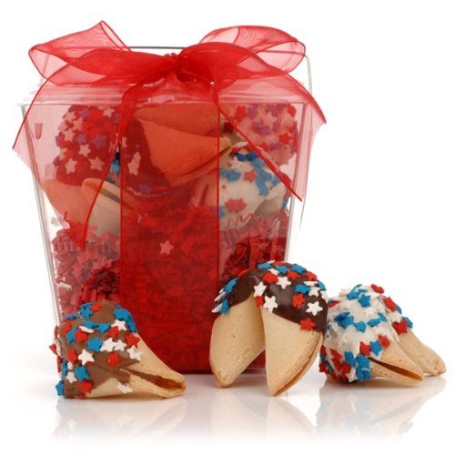 Patriotic Gift Pail - Patriotic Fortune Cookies Take Out Pail