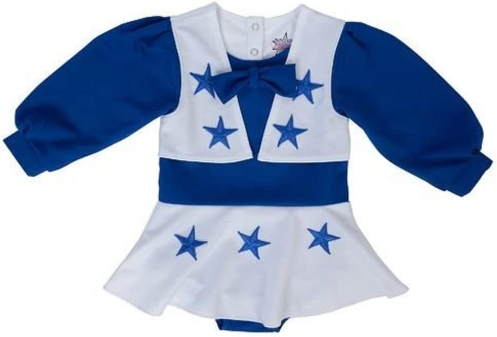 Licensed Sports Apparel Dallas Football Cowboys Toddler Girls Royal Blue and White Cheer Uniform