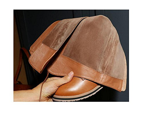 stivali donna Plus della moda retr Croce velluto lunghi cinghia alla FU4xwq