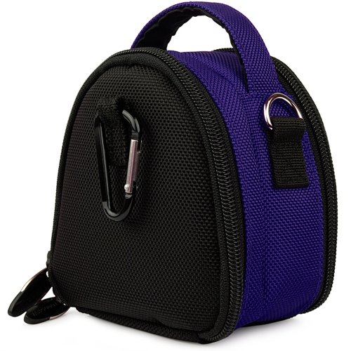 - Blue Limited Edition Camera Bag Carrying Case with Extra Accessory Compartment for Nikon Coolpix Point and Shoot Digital Camera