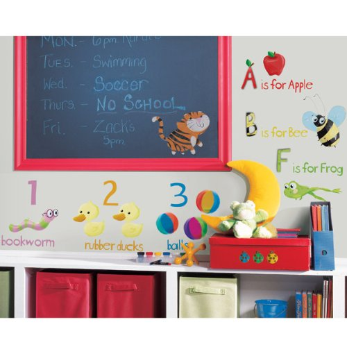RoomMates RMK1185SCS Education Station Peel & Stick Wall Decals ()