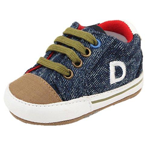 Highpot Baby Boys Girls Canvas Sneaker Toddler Anti-slip First Walkers Shoes (Blue, 0~6 - Womens 2017 Best Wetsuits