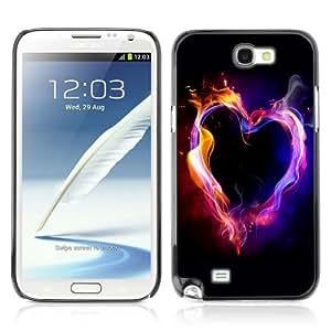 YOYOSHOP [Hear Of Flames] Samsung Galaxy Note 2 Case