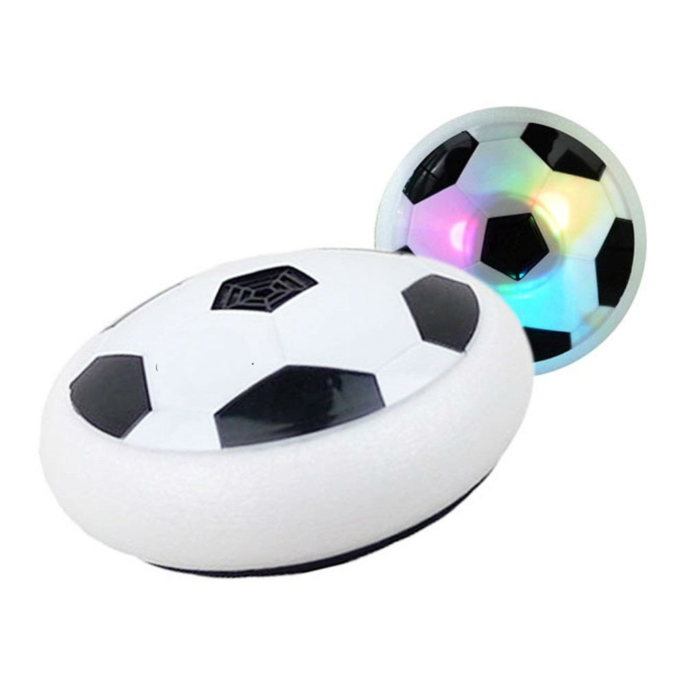 FILIND Air Power Soccer Disc Pneumatic Suspended Football with Foam Bumpers and LED Lights Hover Disk Gliding Ball Disc Boys Girls Sport Children Toys Training Football Indoor Outdoorr
