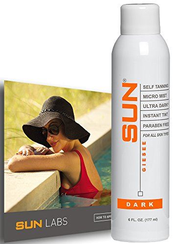 Spray Tan Can Self Tanner Micro Mist Ultra Dark Natural Sunless Airbrush, Body and Face for Bronzing and Golden Tan - Natural Sunless Airbrush | Sunless Tan Spray |nstant Bronze