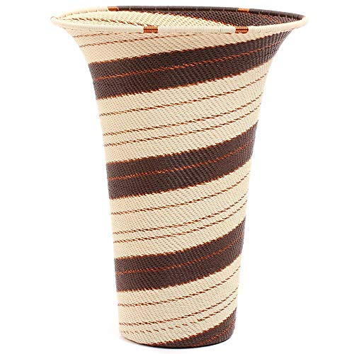 Fair Trade Zulu African Wire Flared Top Vase, Approximately 7