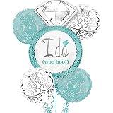 Robin's Egg Blue I DO Wedding Ring 5 Balloon Bouquet Kit - Bridal Shower