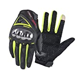 SCOYCO Men's Protective Touch Screen Race Motorcycle Gloves for Outdoor Extreme Sports(Green,L)