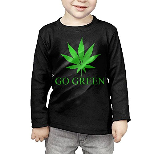 Price comparison product image GssWx-07 Go Green Weed Child Tshirts,Long Sleeve Tee For Boy