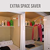 Pro Closet Hanger | Handy White Collapsible Folding 12.8 Inch Instant Hanger Closet Clothes for Corners Bathroom Porch Deck | Premium Stainless Steel and ABS | 1310.1