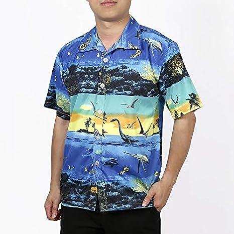 LFNANYI Verano para Hombre Camisa Hawaiana de Manga Corta Moda Tropical Tree Print Hawaii Camisa Hombres Slim Fit Playa Camisas Casuales Hombre 5XL: Amazon.es: Deportes y aire libre