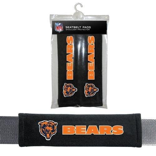 Fremont Die Sports Team Logo Chicago Bears Seat Belt Pad 2 Pack