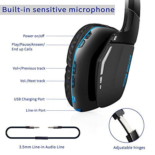 kotion each b3506 v4 1 bluetooth headphones for ps4 wireless headset with mi. Black Bedroom Furniture Sets. Home Design Ideas