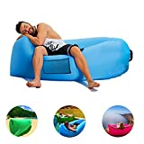 Portable Air Sofa Inflatable Couch - GreForest Blue Air Couch Outdoor Waterproof Inflatable Lounger For Camping, Family Leisure, Beach, Water Play Including Mesh Side Pocket, Drawstring Carry Bag offers