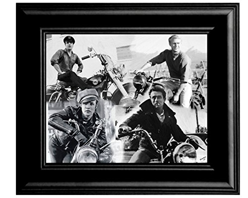- Motorcycle Mayhem James Dean Marlon Brando Steve Mcqueen Elvis Oil Painting On Canvas Limited Edition S/N Made In The USA Copyright Matereial