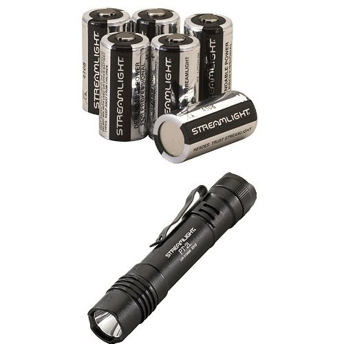 Streamlight ProTac 2L 350 Lumen Professional Flashlight with High/Low/Strobe w/ 2 x CR123A Batteries and Lithium Batteries, - Light 2l Lithium