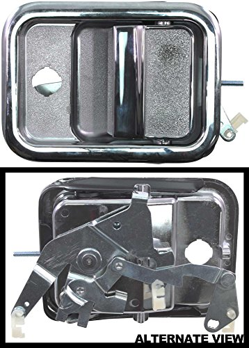 APDTY 8716316 Exterior Door Handle All Metal Design With Chrome Fits Front Left 1991-1996 Freightliner FLD 120 1995-1995 FLD 112 2003-2007 Classic Cab (Replaces A18-35381-000) - 1991 Freightliner