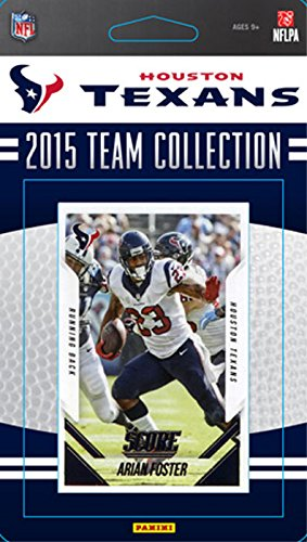 Houston Texans 2015 Score Factory Sealed NFL Football Complete Mint Team Set with JJ Watt, Arian Foster, Kevin Johnson Rookie Plus