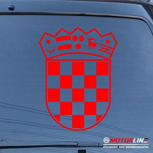 (3S MOTORLINE Coat of arms of Croatia Republic Decal Sticker Car Vinyl die cut pick size color (red, 8'' (20.3cm)) )