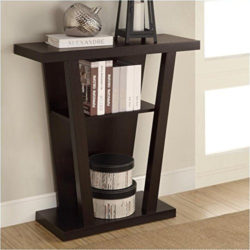 Coaster Home Furnishings 950136 Storage Entry Console Table, Cappuccino