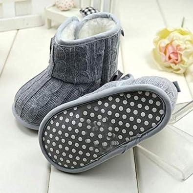 LuckyGirls Baby Schuhe M/ädchen Jungen Bowknot weiche Sohle Winter warme Stiefel Baby Shoes
