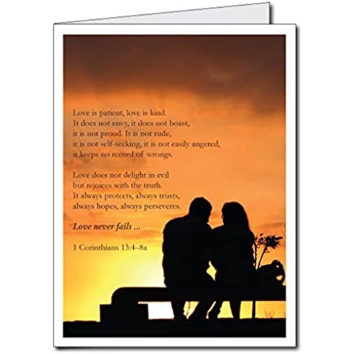2'x3' Giant Valentine's Day Card - Bible Verse (Love is patient) w/Envelope Sales