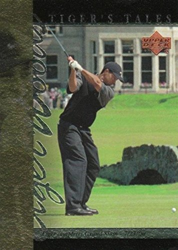 Tiger Woods Autographed Card - Tiger Woods Golf Card (Completes Career Grand Slam) 2001 Upper Deck #TT26