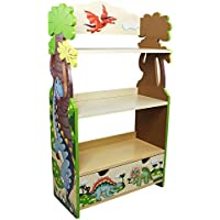 Fantasy Fields - Dinosaur Kingdom Thematic Kids Wooden Bookcase with Storage | Imagination Inspiring Hand Crafted & Hand Painted Details | Non-Toxic, Lead Free Water-based Paint