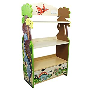 Fantasy Fields – Dinosaur Kingdom Thematic Kids Wooden Bookcase with Storage | Imagination Inspiring Hand Crafted & Hand…