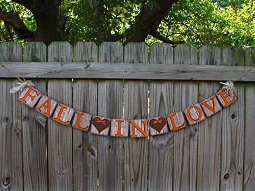 Fall In Love Wedding Banner - Fall Decorative Banner